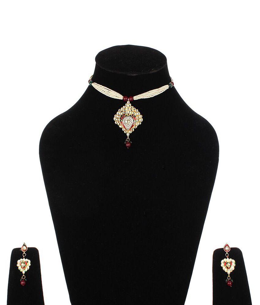 Jewlook Gray Necklace Set