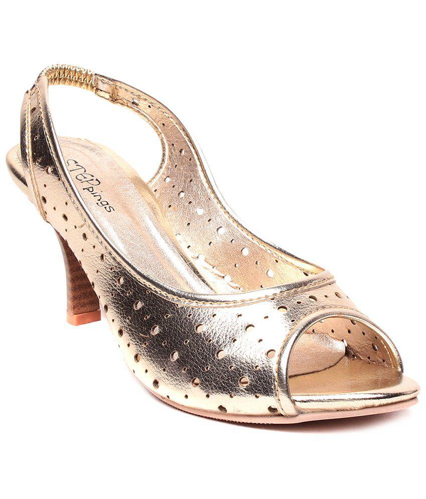 STEPpings Gold Party Wear Heels