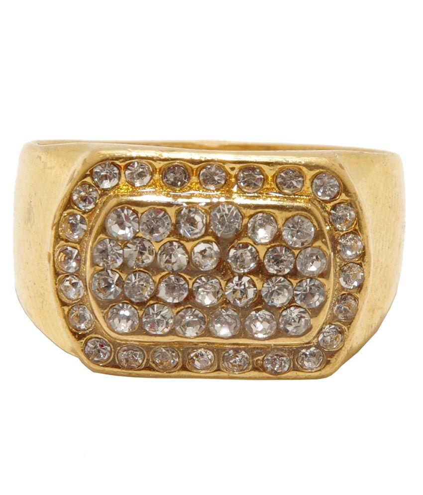 Asha Ambe Ornaments Gold Plated Alloy Ring