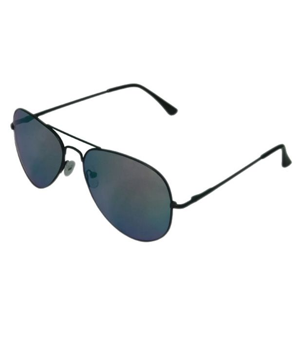 Highway Craze Black Aviator Frame Sunglasses