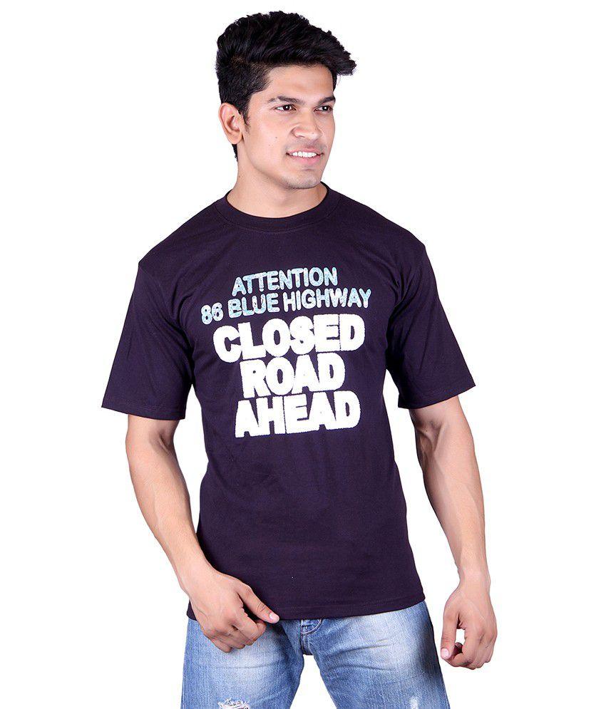 Jura Polo Purple Cotton T-Shirt