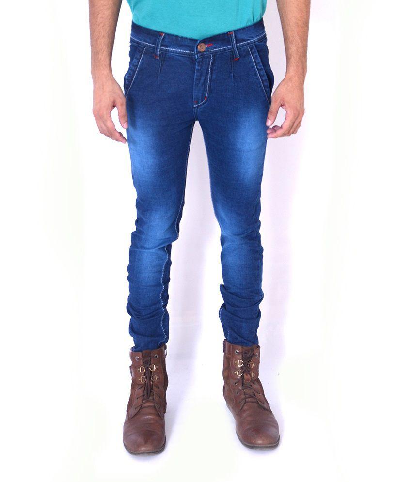 Aeroglide Blue Low rise Slim Fit Jeans