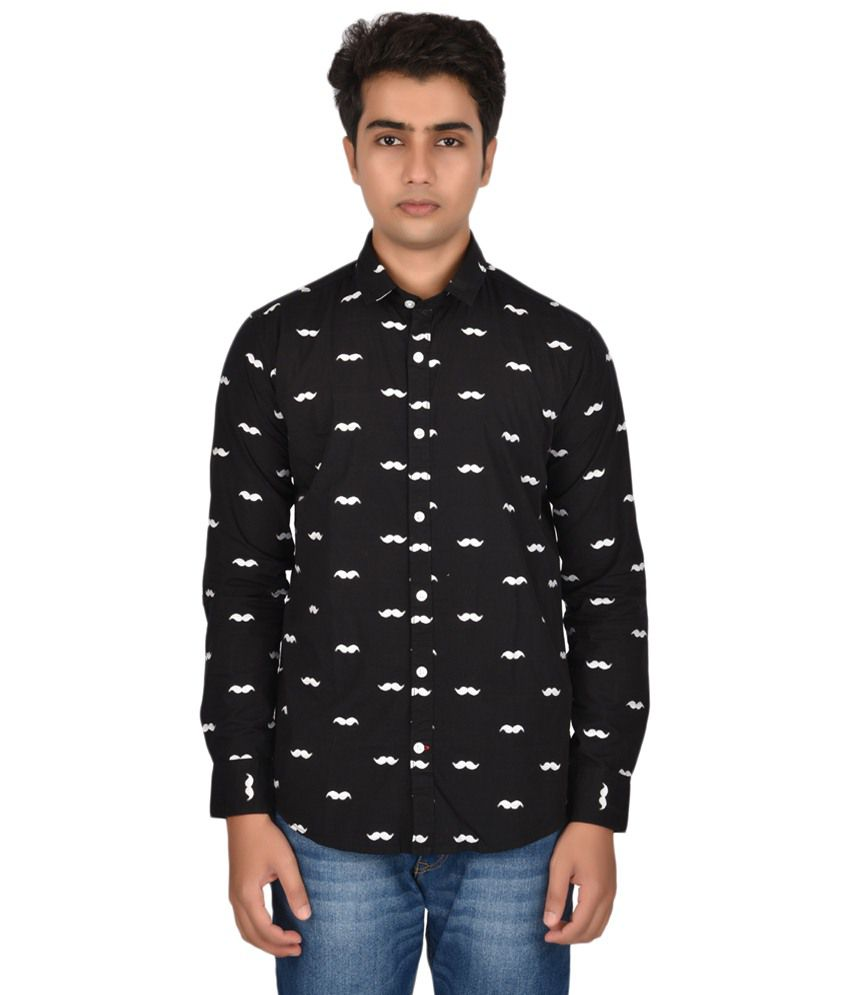10bdab353 Roman Island Black & White Printed Casual Shirt - Buy Roman Island Black &  White Printed Casual Shirt Online at Best Prices in India on Snapdeal