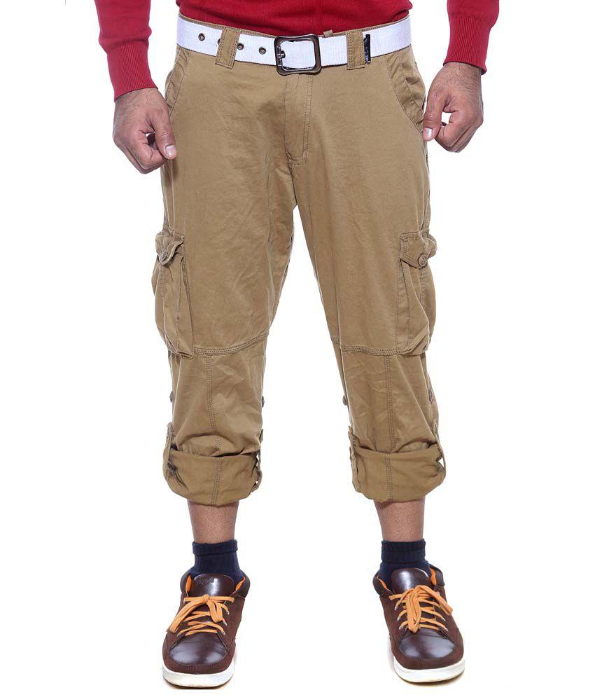 Sports 52 Wear Khaki Cotton Trouser