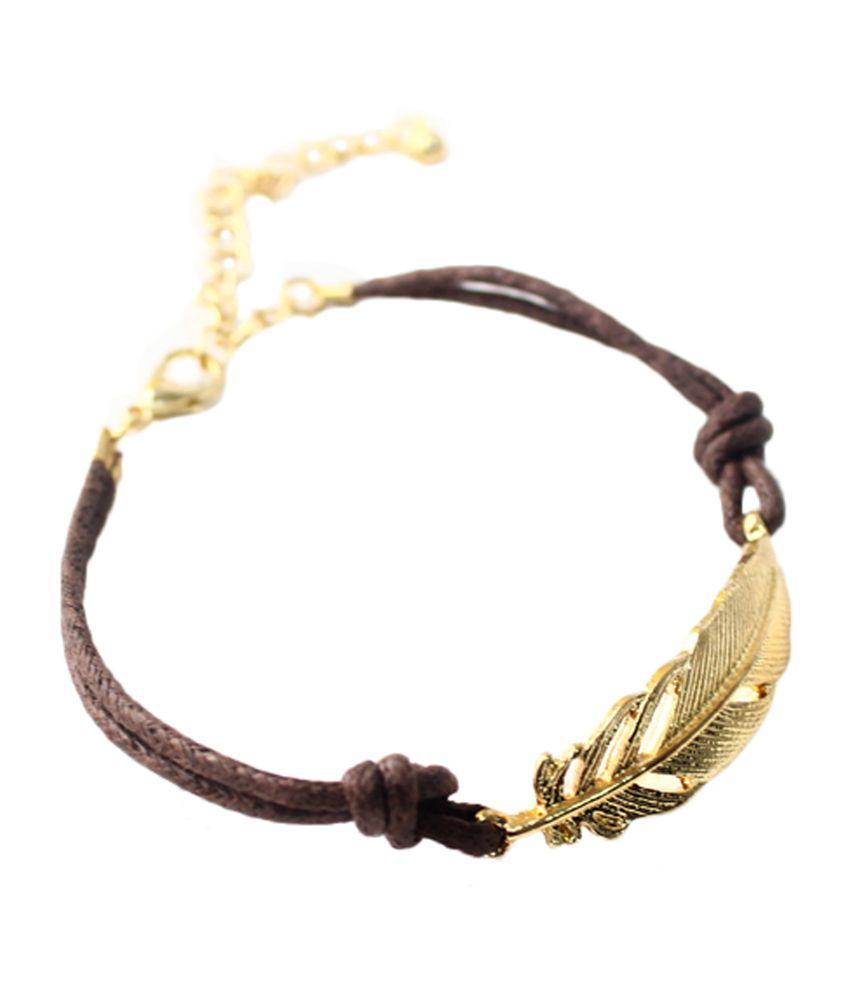 Cinderella Fashion Jewelry  Brown & Golden Bracelet