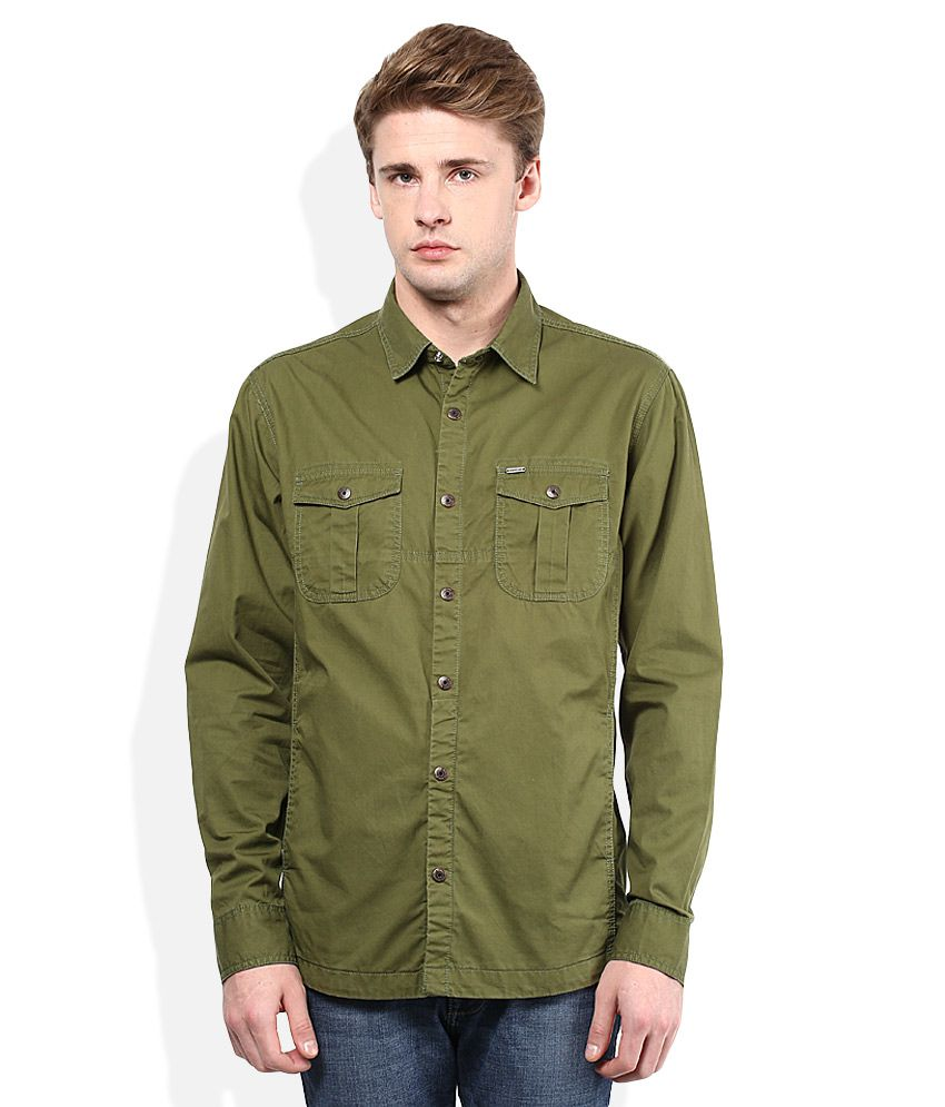 bbcca5b3b9 Numero Uno Olive Green Slim Fit Casual Shirt - Buy Numero Uno Olive Green  Slim Fit Casual Shirt Online at Best Prices in India on Snapdeal