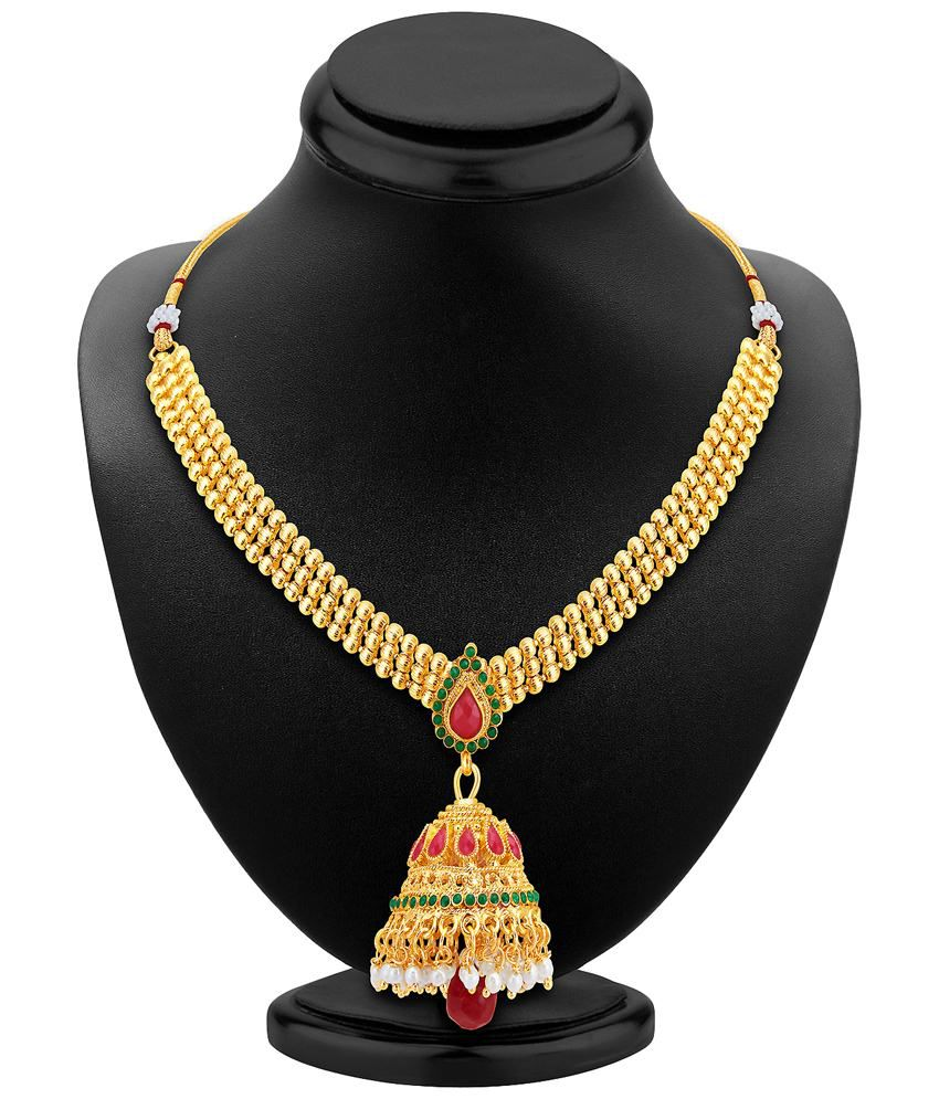 Sukkhi Gold Plated Crystal Necklace Set