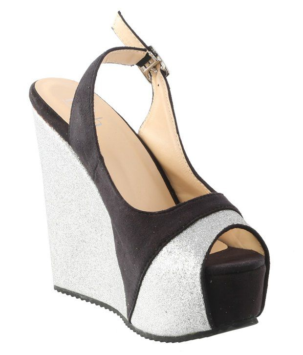 Belson Silver Wedges Heeled Sandals
