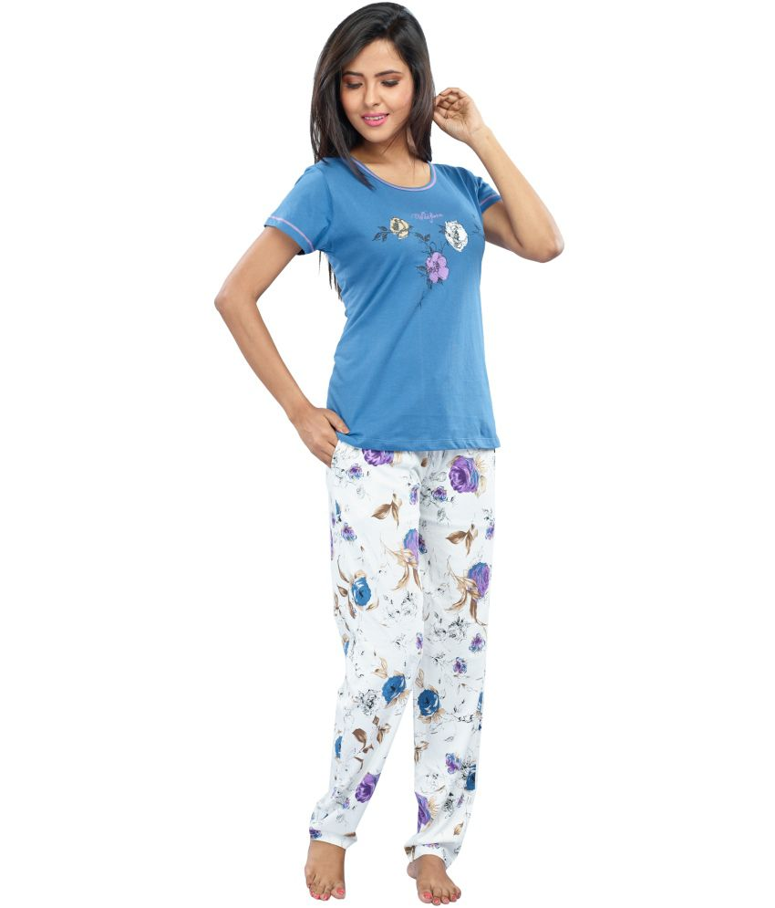 8043e4d8e Buy Juliet Blue Cotton Nightsuit Sets Online at Best Prices in India -  Snapdeal