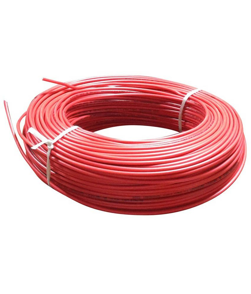 Buy V-Marc Red Copper Cable Wire Set Of 4 Online at Low Price in ...