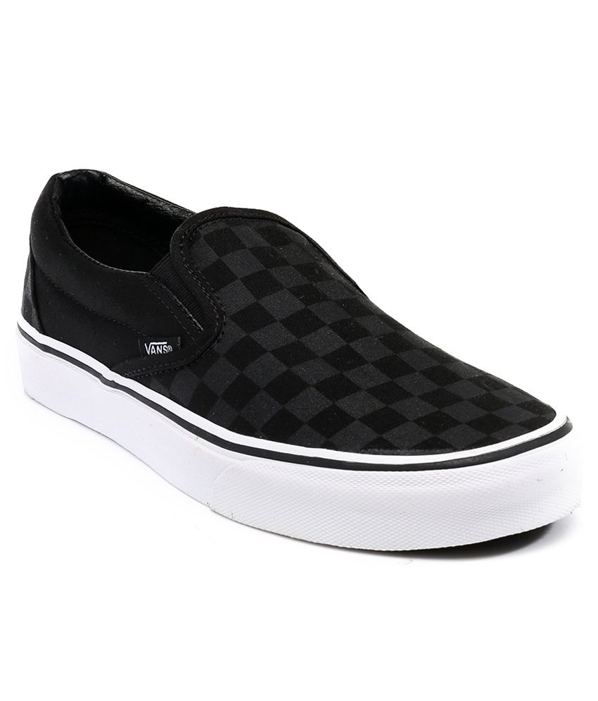 5fc02027c3ac Vans Classic Slip On Black Casual Shoes - Buy Vans Classic Slip On Black  Casual Shoes Online at Best Prices in India on Snapdeal
