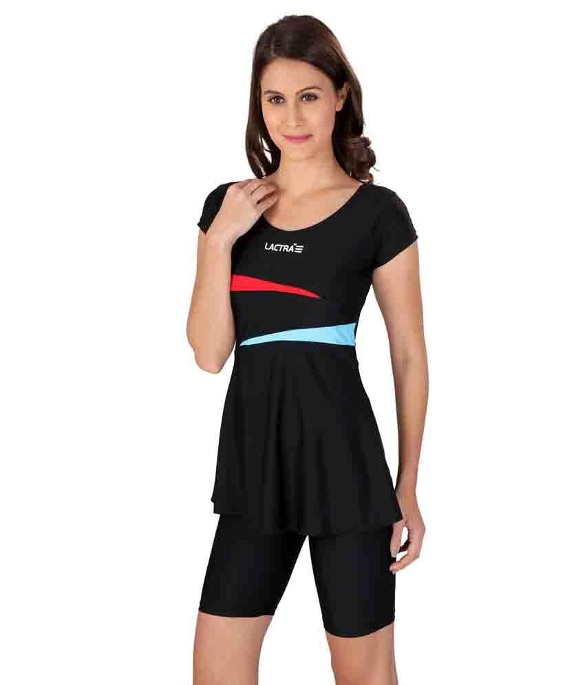 Lactra Black Nylon Female Swimwear