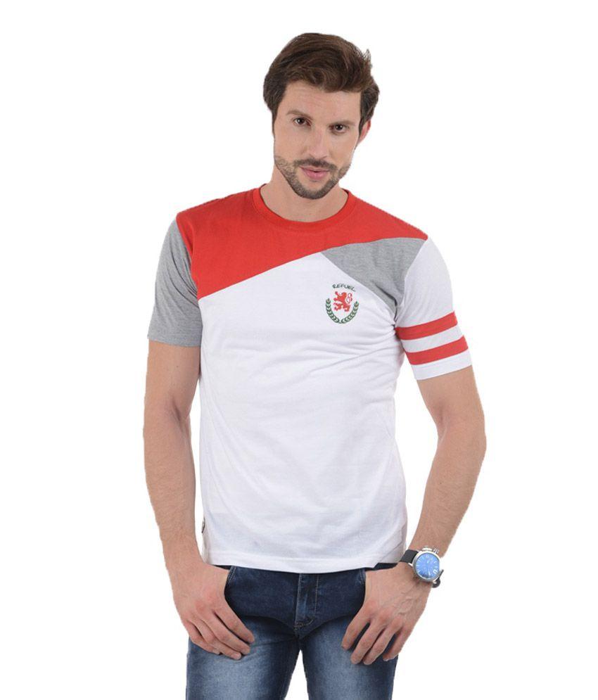 Tmo White Cotton T-shirt