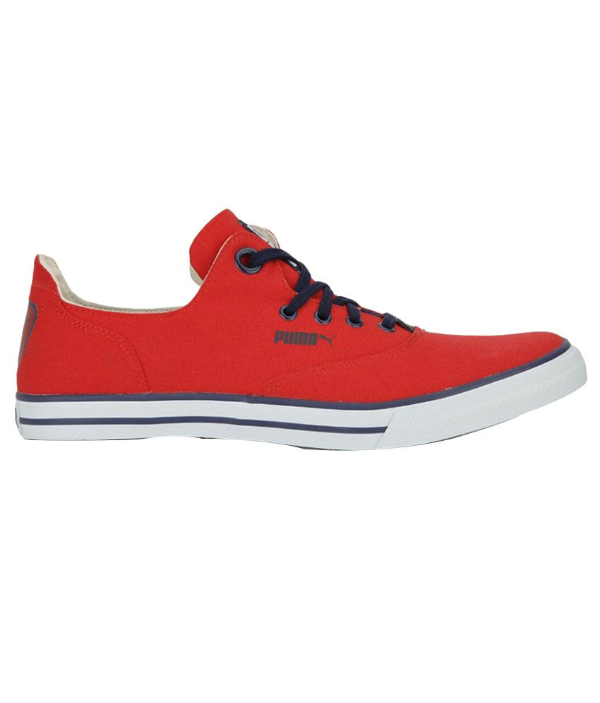 Puma Red Canvas Shoes - Buy Puma Red