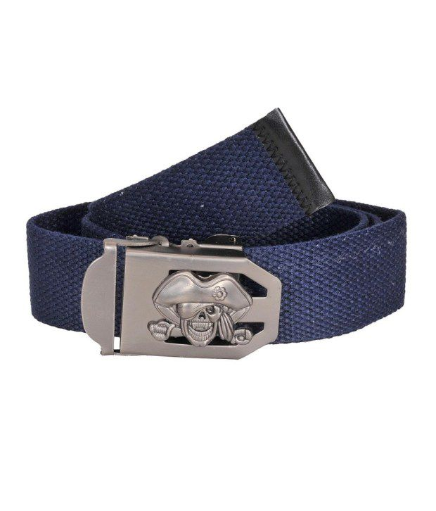 Tiekart Navy Canvas Belt