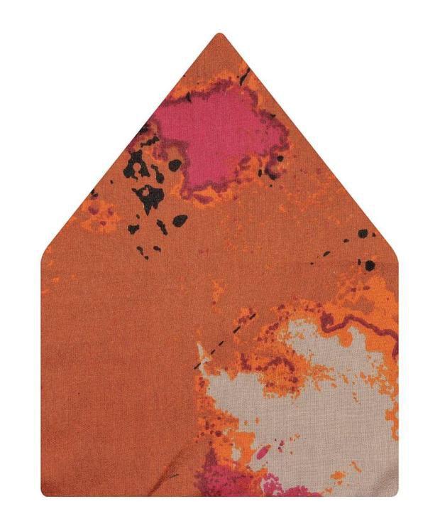 Tiekart Orange Cotton Pocket Square