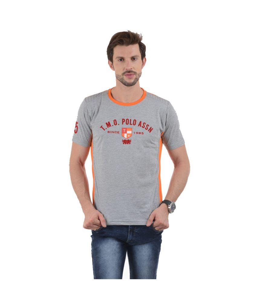 Tmo Grey Cotton Blend T-shirt