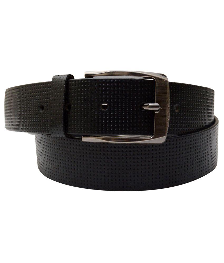 Shopatplaces Black Leather Formal Belt