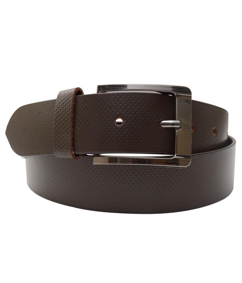 Shopatplaces Brown Leather Formal Belt