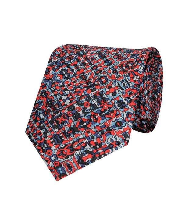 Tiekart Red and Blue Silk Tie