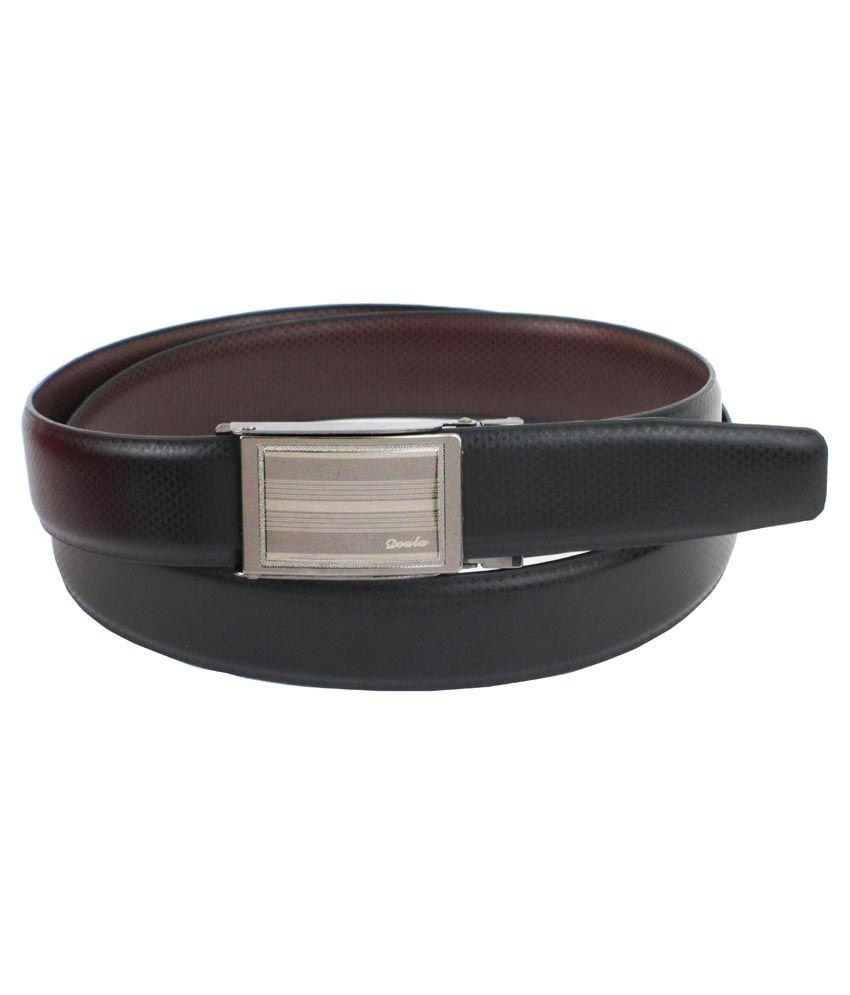 Abhinavs Black Italian Leather Belt For Men