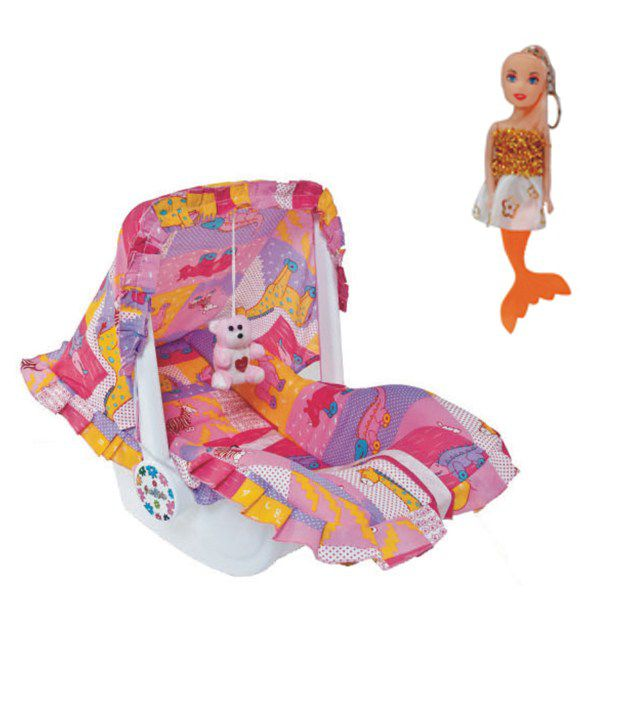 Ehomekart Multicolour 7 In 1 Carry Cot With Mermaid Keychain Combo