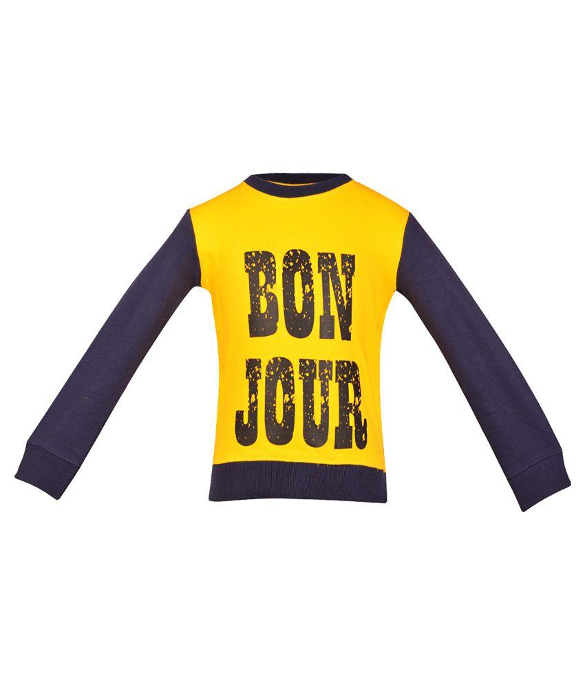 Gkidz Yellow Cotton Sweatshirt