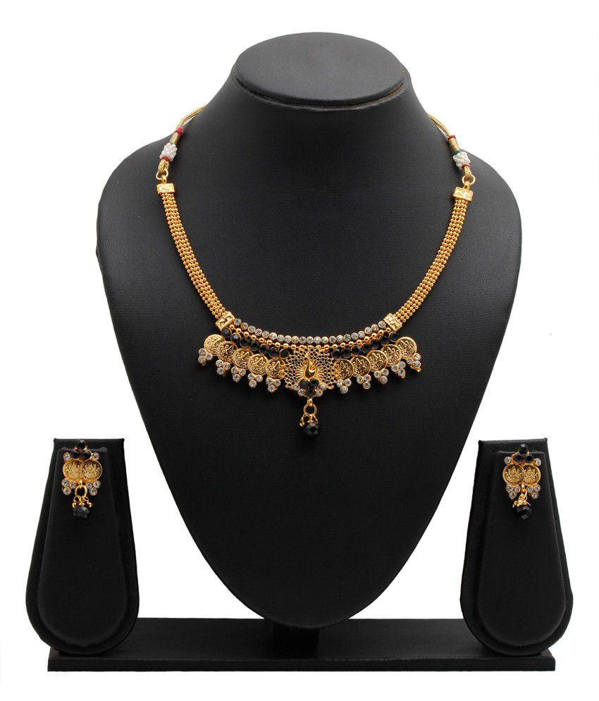 Party Queen Black Alloy Necklace Set