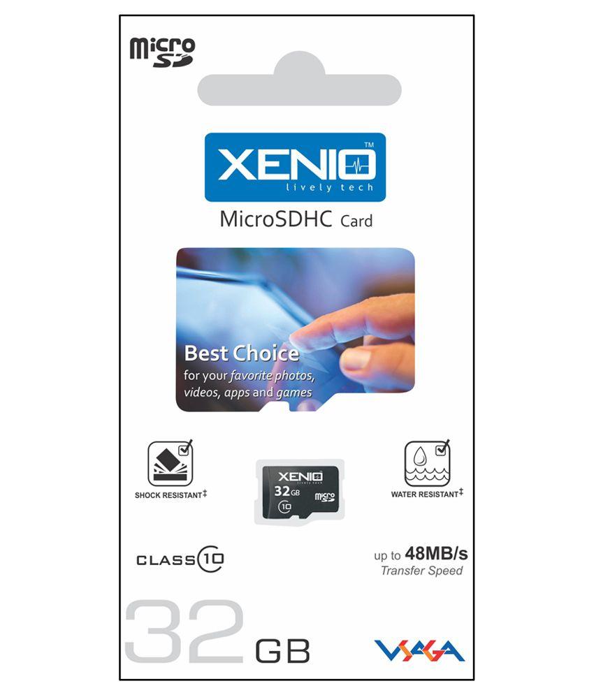 Xenio 32GB MicroSDHC Class 10 Memory Card
