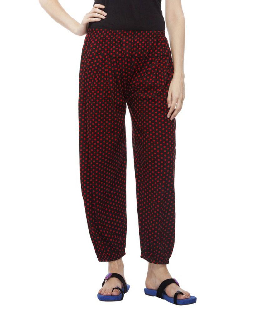 Aalaya Red Cotton Pajamas
