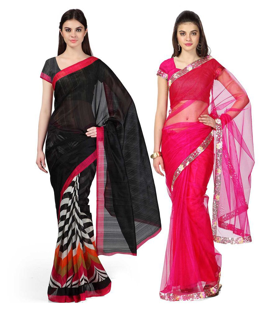 Janasya Multicolour Bhagalpuri Pack Of 2