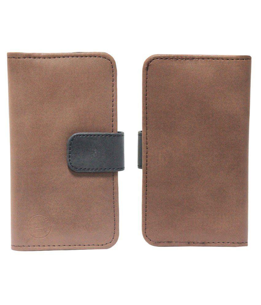 Jo Jo Flip Cover For Nokia Lumia 635-Brown & Black