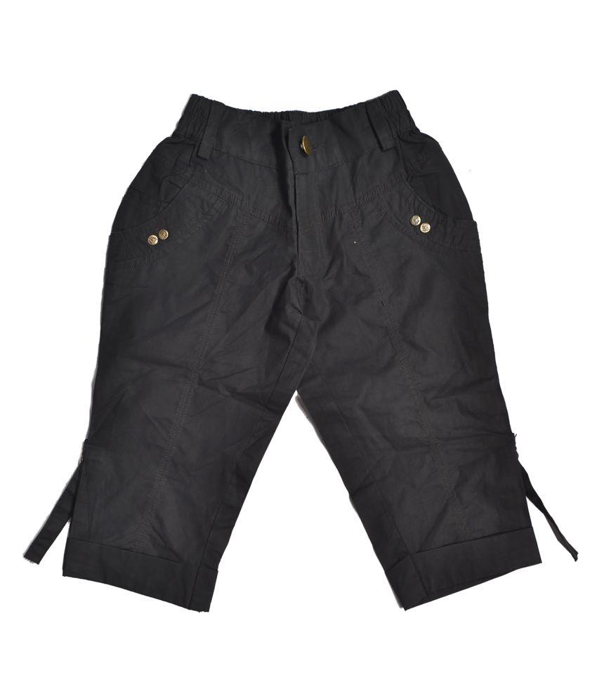 Masti Black Capris For Girls