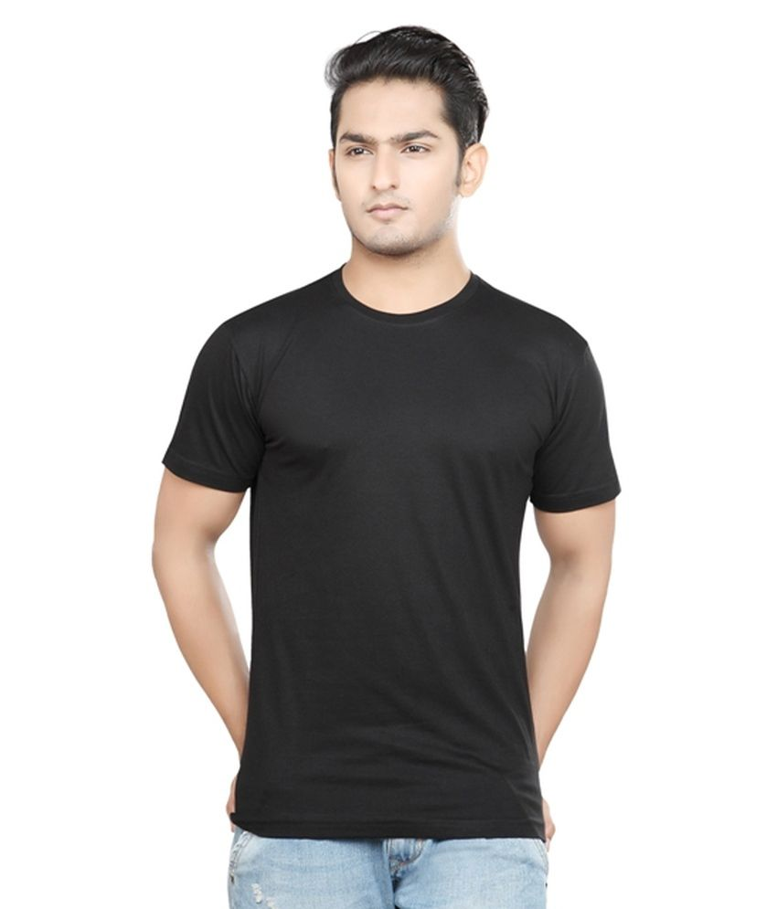 Pnp Black Cotton Blend T Shirt