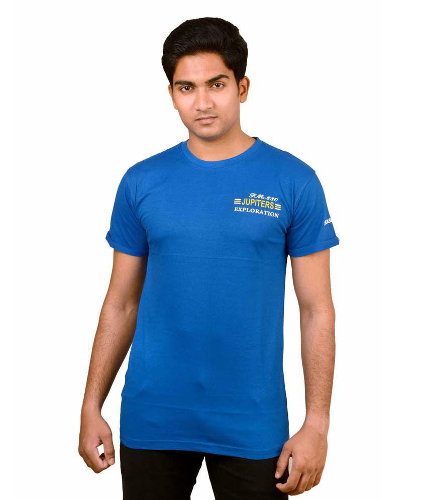Illicit Nation Blue Cotton Blend T-shirt