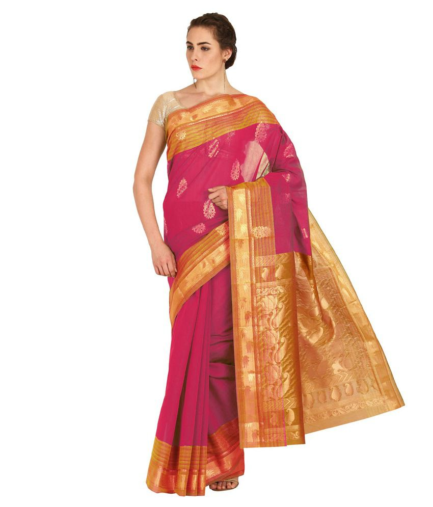Platinaa Red Silk Saree