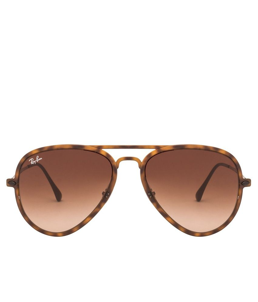 88e99de3305 Ray-Ban Rb4211 894 13 Brown Aviator Sunglass - Buy Ray-Ban Rb4211 894 13  Brown Aviator Sunglass Online at Low Price - Snapdeal