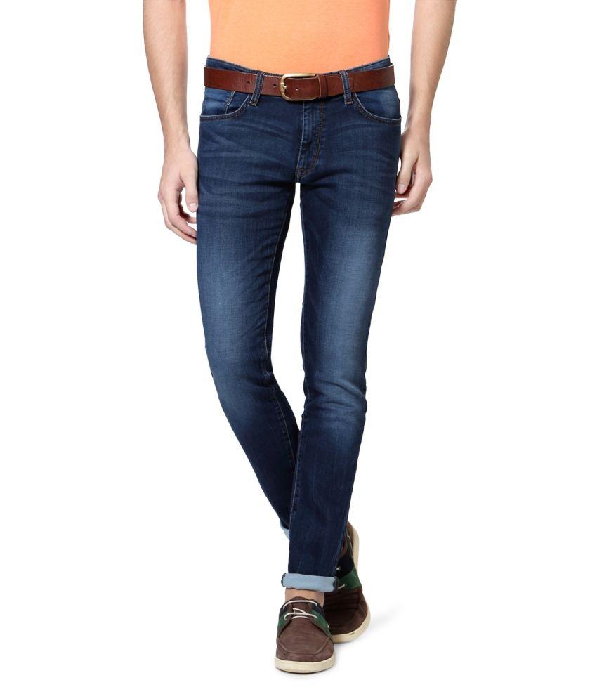 Allen Solly Blue Cotton Jeans