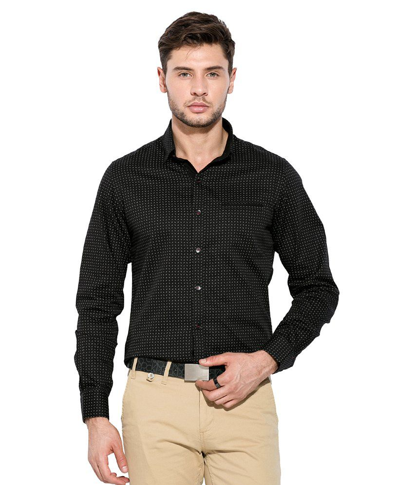 6a290c2167e Mufti Black Printed Shirt - Buy Mufti Black Printed Shirt Online at Best  Prices in India on Snapdeal