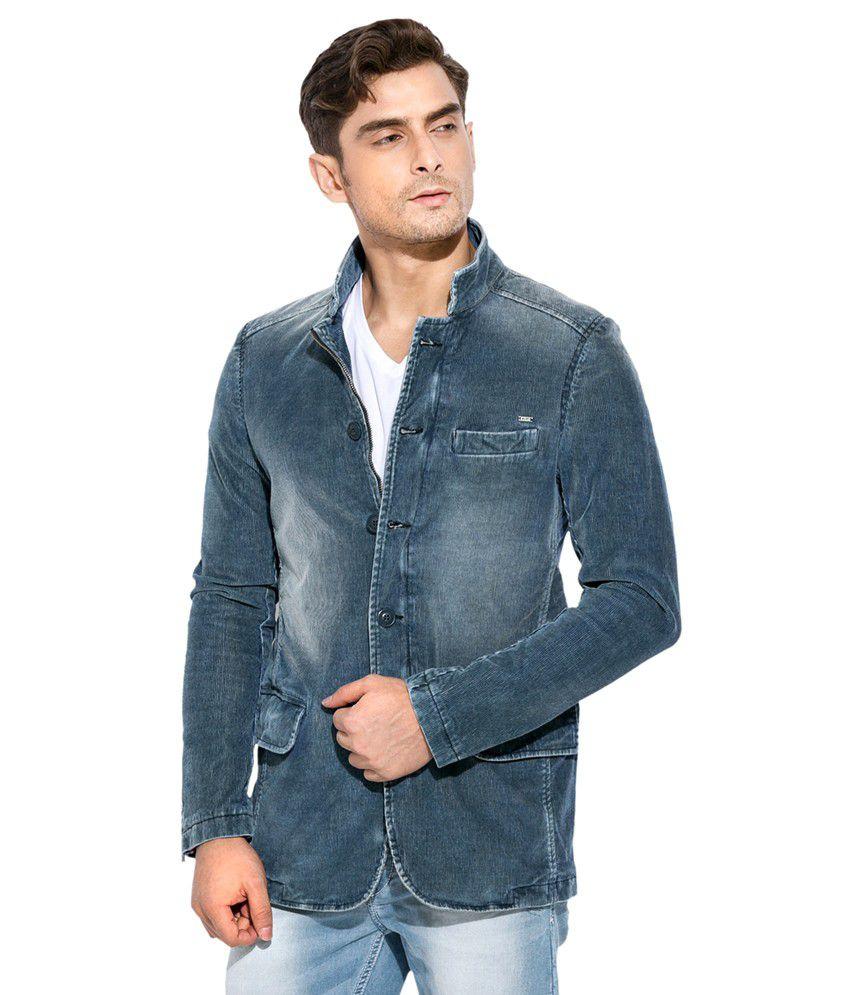 Mufti Blue Casual Blazer