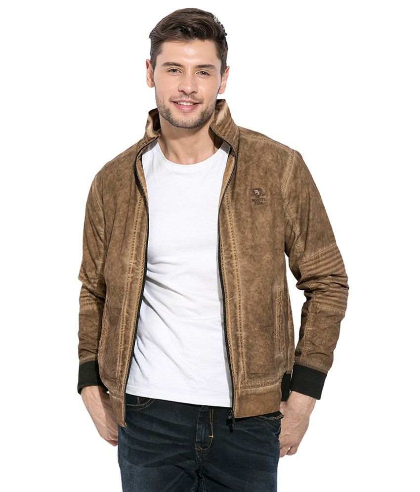 d56271078a0 Mufti Khaki Casual Jacket - Buy Mufti Khaki Casual Jacket Online at Best  Prices in India on Snapdeal