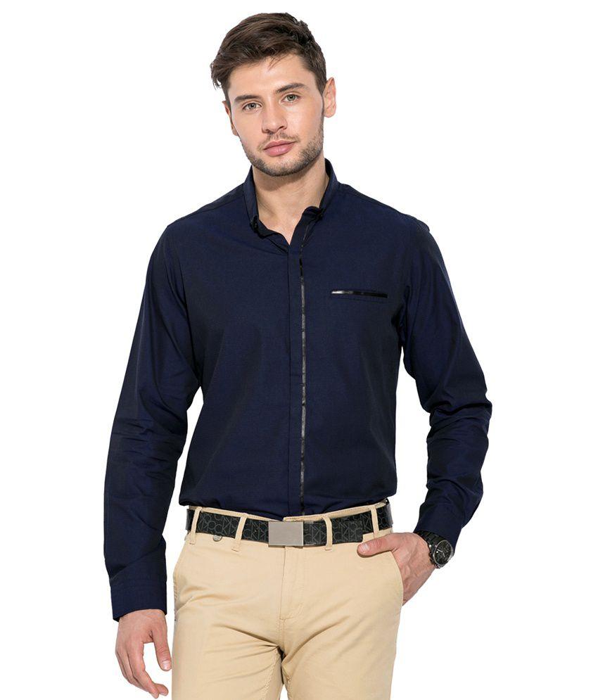 Mufti Navy Slim Fit Shirt Buy Mufti Navy Slim Fit Shirt