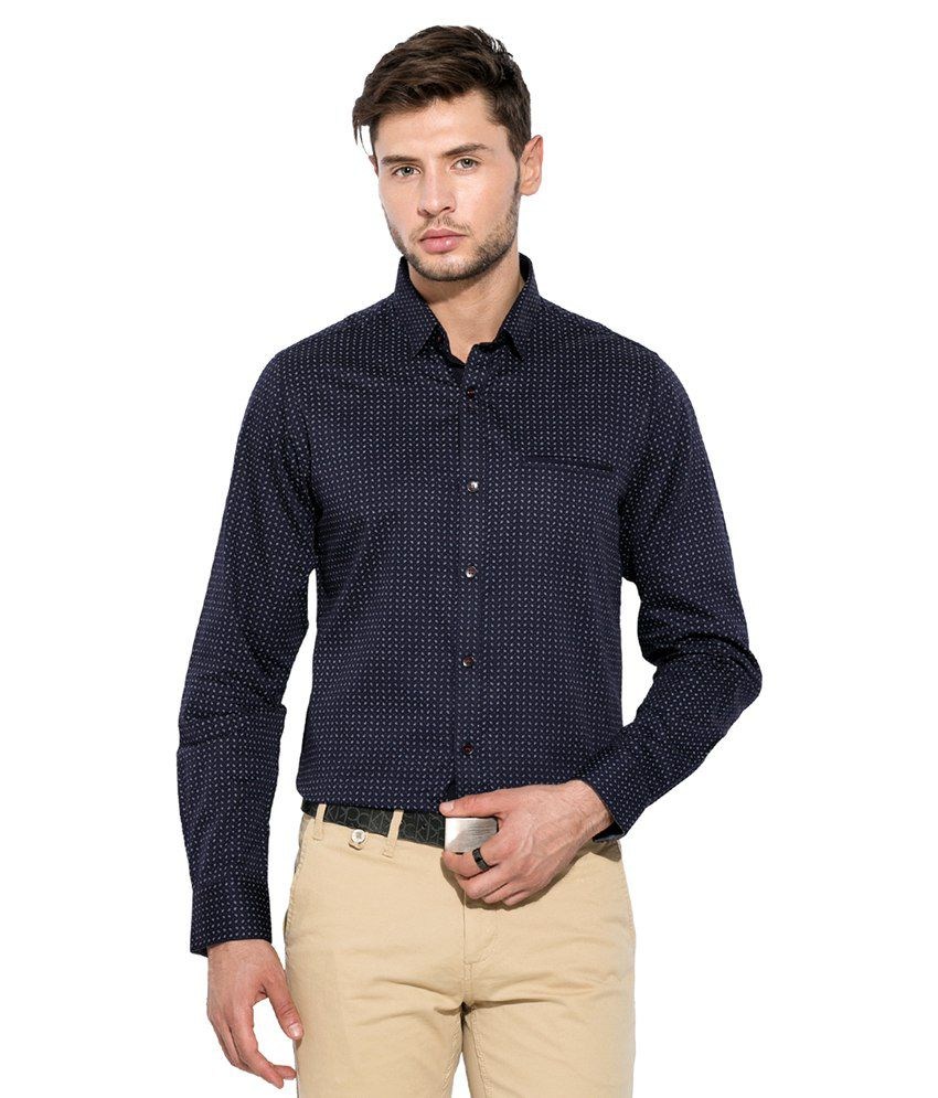 a4da9dc5ba44 Mufti Navy Printed Shirt - Buy Mufti Navy Printed Shirt Online at Best  Prices in India on Snapdeal