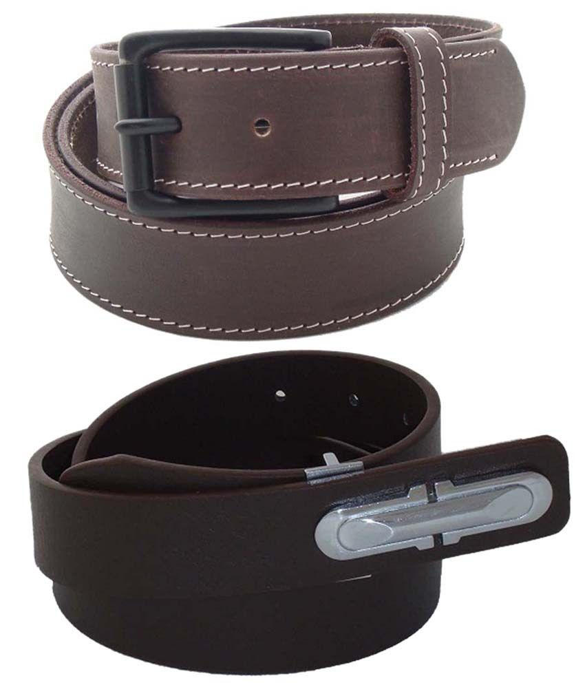 SFA Combo of 2 Brown Casual Belts