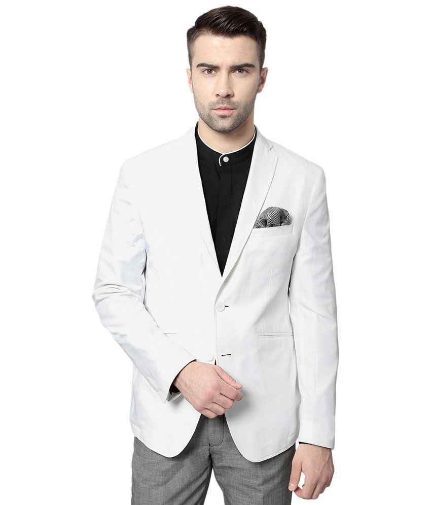 3e32efea4bfb Peter England White Party Wear Blazer for Men - Buy Peter England White  Party Wear Blazer for Men Online at Best Prices in India on Snapdeal