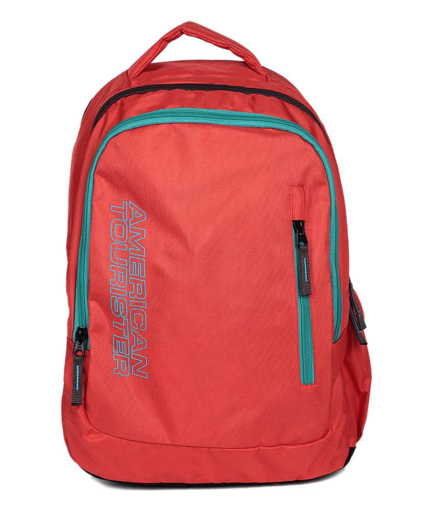 School bags online american tourister - American Tourister Red Polyester Backpack