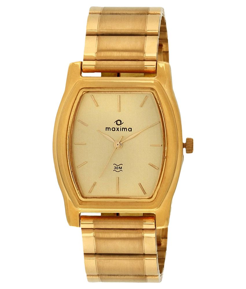 Maxima Gold Strap Metal Formal Watch
