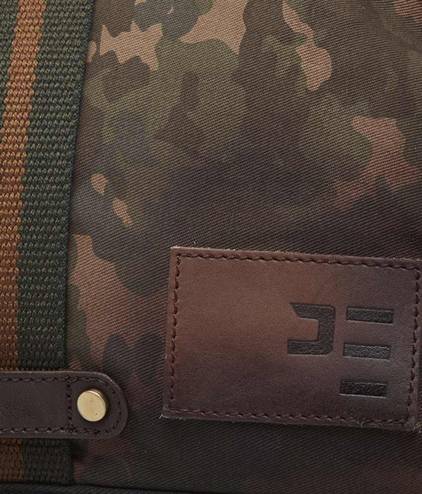 Peter England Khaki   Brown Camouflage Duffle Bag for Men - Buy ... 2f3b9c10675cc