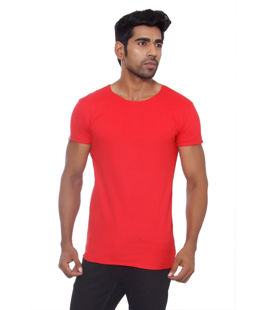 Pezzava Red Cotton Blend T-shirt