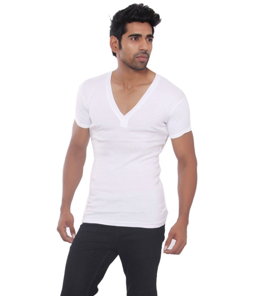 Pezzava White Cotton Blend T-shirt